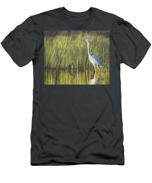 Men's T-Shirt (Athletic Fit) featuring the painting Stately Grace by Tammy Taylor
