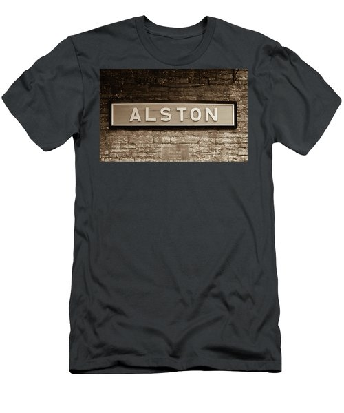 Men's T-Shirt (Athletic Fit) featuring the photograph Station Sign by JLowPhotos