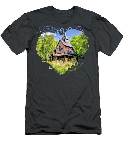 Stavkirke Church On Washington Island Door County  Men's T-Shirt (Athletic Fit)