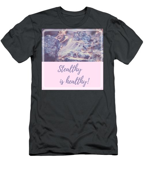 Men's T-Shirt (Athletic Fit) featuring the photograph Stealthy Is Healthy by Judy Kennedy