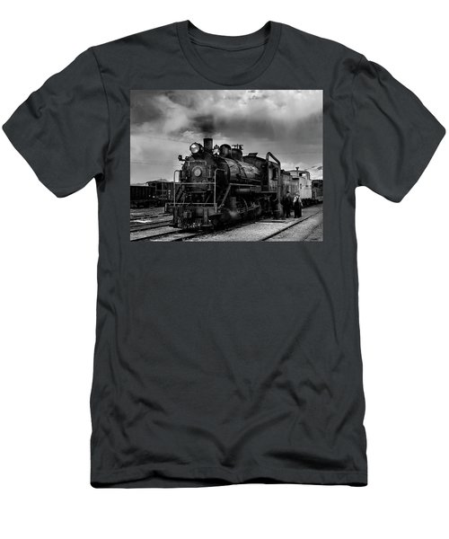 Steam Locomotive In Black And White 1 Men's T-Shirt (Athletic Fit)