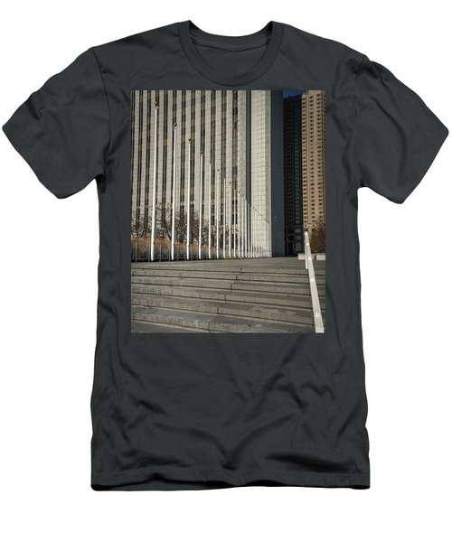 Steps And Poles Men's T-Shirt (Athletic Fit)