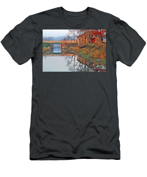 Still Waters On The Canal Men's T-Shirt (Athletic Fit)