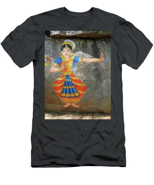Stone Painting Of Nautch Dancing Gir Men's T-Shirt (Athletic Fit)