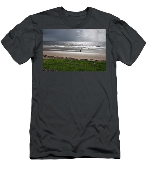Storm Brewing Over The Sea Men's T-Shirt (Athletic Fit)