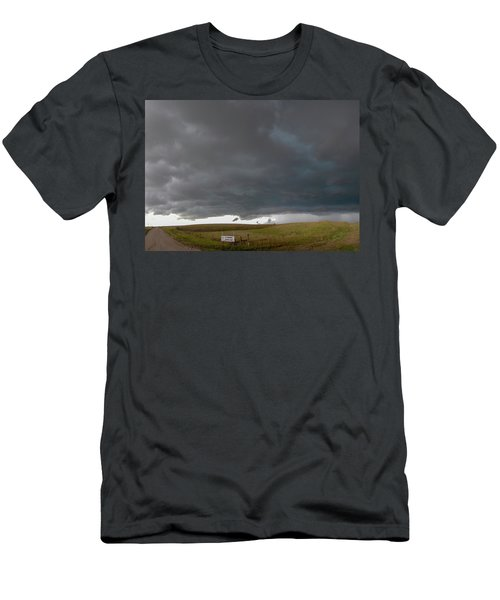 Men's T-Shirt (Athletic Fit) featuring the photograph Storm Chasin In Nader Alley 016 by NebraskaSC