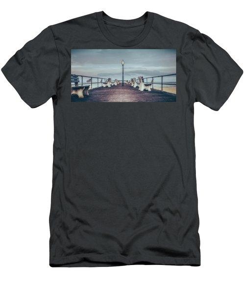 Stormy Boardwalk Men's T-Shirt (Athletic Fit)