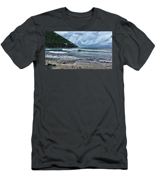 Stormy Shores Men's T-Shirt (Athletic Fit)