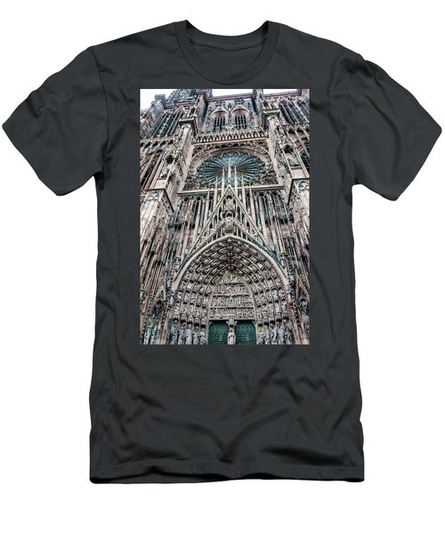 Strasbourg Cathedral Men's T-Shirt (Athletic Fit)