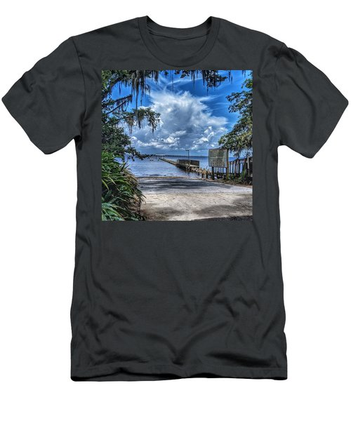 Strolling By The Dock Men's T-Shirt (Athletic Fit)
