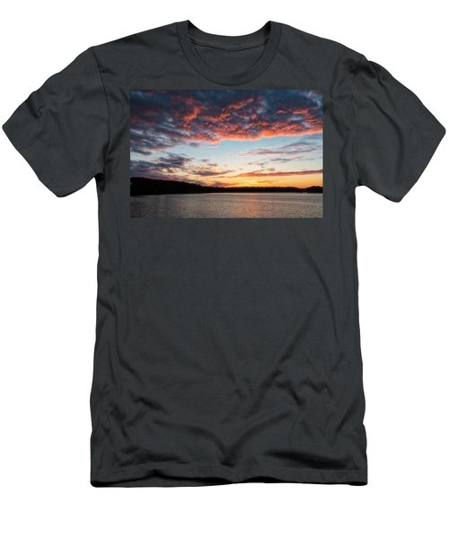 Men's T-Shirt (Athletic Fit) featuring the photograph Stumpy Lake Sunset by Russell Pugh