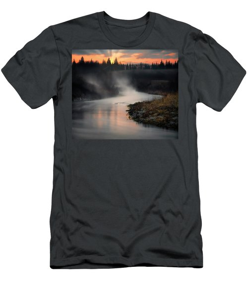 Sturgeon River Morning Men's T-Shirt (Athletic Fit)
