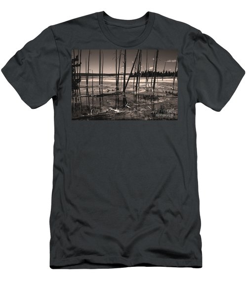 Men's T-Shirt (Athletic Fit) featuring the photograph Sulfur Field by Mae Wertz