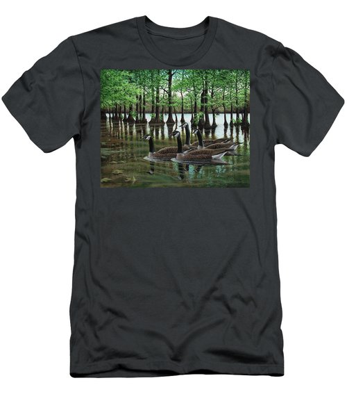 Summer Among The Cypress Men's T-Shirt (Athletic Fit)