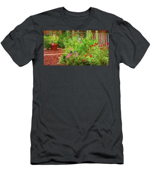 Summertime In The Flower Garden Men's T-Shirt (Athletic Fit)