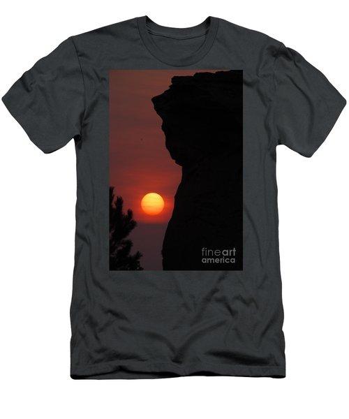 Sun Down On Medicine Rock  Men's T-Shirt (Athletic Fit)