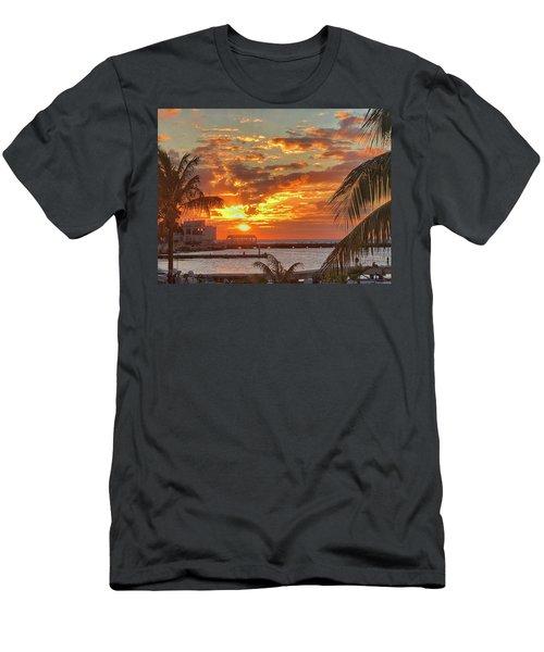 Sun Is Setting Men's T-Shirt (Athletic Fit)
