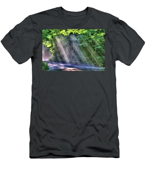 Men's T-Shirt (Athletic Fit) featuring the photograph Sun Streaks by Debbie Stahre