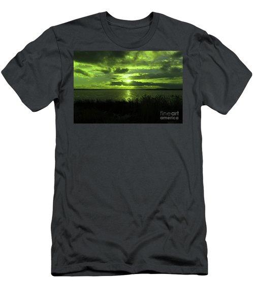 Sundown On A Winter Lake Men's T-Shirt (Athletic Fit)