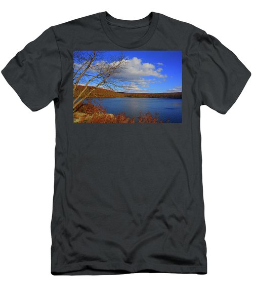 Men's T-Shirt (Athletic Fit) featuring the photograph Sunfish Pond From The Appalachian Trail by Raymond Salani III