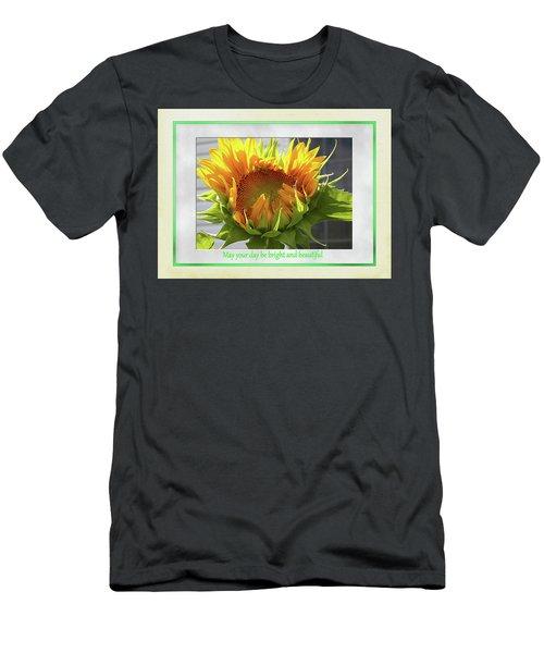 Sunflower Birthday Men's T-Shirt (Athletic Fit)