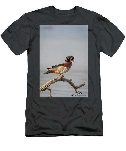 Sunny Day Wood Duck Men's T-Shirt (Athletic Fit)
