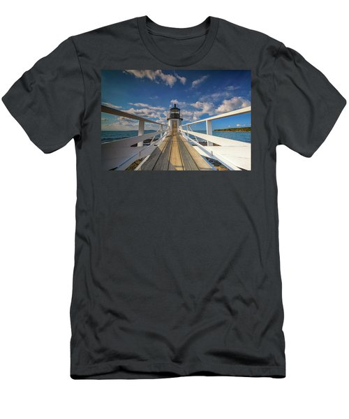Men's T-Shirt (Athletic Fit) featuring the photograph Sunny Skies At Marshall Point by Rick Berk