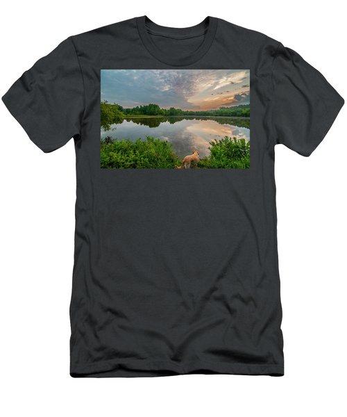 Sunrise At Ross Pond Men's T-Shirt (Athletic Fit)
