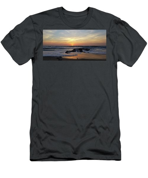 Sunrise At The 15th St Jetty Men's T-Shirt (Athletic Fit)