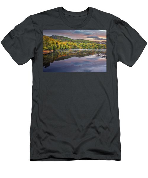 Sunrise Colors At The Lake In Pitlochry Men's T-Shirt (Athletic Fit)