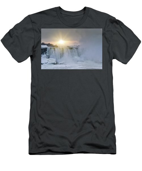 Sunrise In Niagara Falls Men's T-Shirt (Athletic Fit)