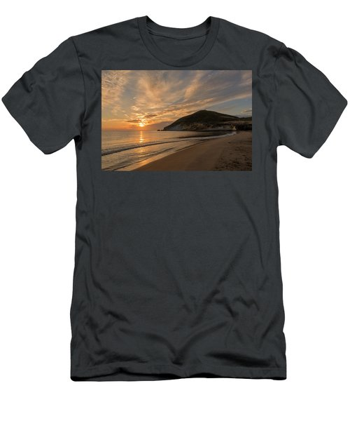 Sunrise On The Beach Of The Genoveses Of Cabo De Gata Men's T-Shirt (Athletic Fit)