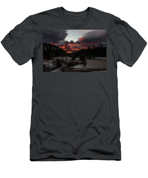 Sunrise Over Cascade Ponds, Banff National Park, Alberta, Canada Men's T-Shirt (Athletic Fit)