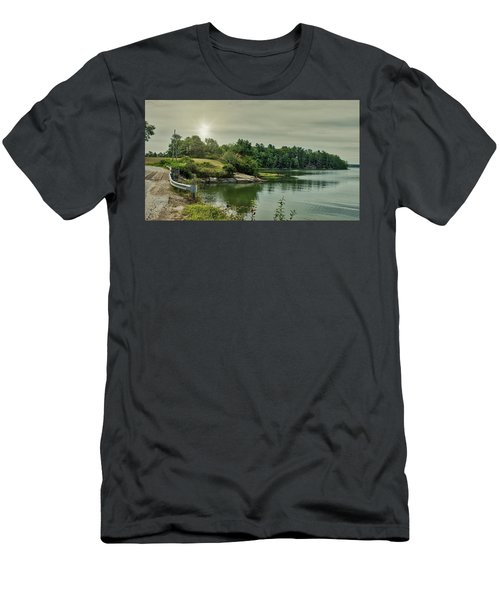 Men's T-Shirt (Athletic Fit) featuring the photograph Sunrise Over Casco Bay by Guy Whiteley