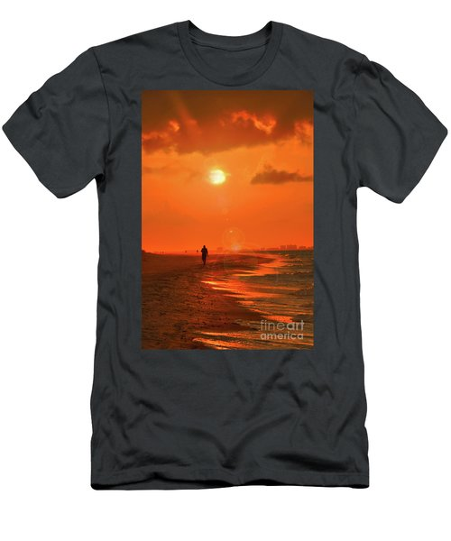 Sunrise Walk On Sanibel Island Men's T-Shirt (Athletic Fit)