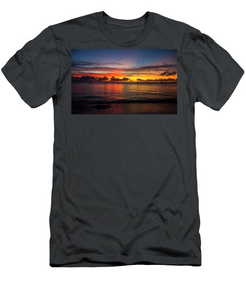 Men's T-Shirt (Athletic Fit) featuring the photograph Sunset 4 No Filter by Stuart Manning