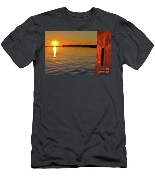 Sunset And Old Watermill Men's T-Shirt (Athletic Fit)