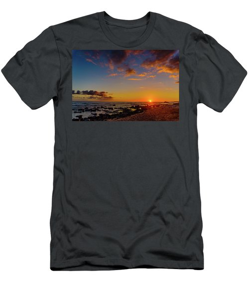 Sunset At Kailua Beach Men's T-Shirt (Athletic Fit)