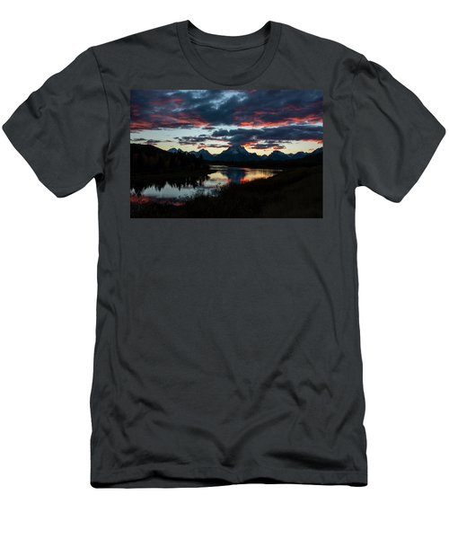 Men's T-Shirt (Athletic Fit) featuring the photograph Sunset At Oxbow Bend by Scott Read