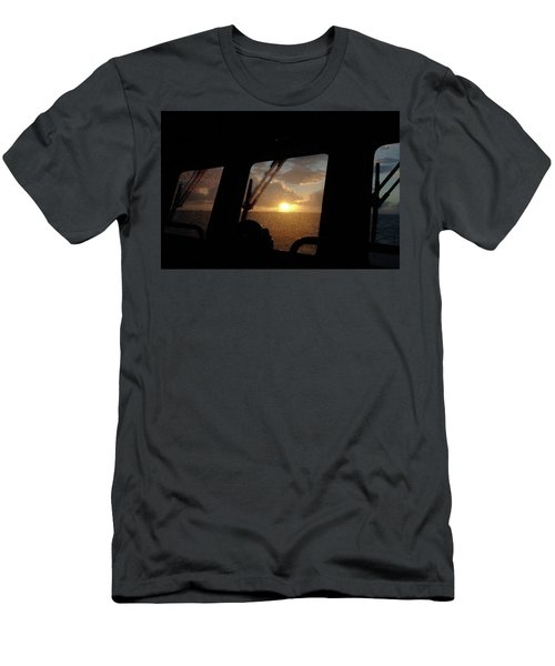 Sunset At Sea Men's T-Shirt (Athletic Fit)