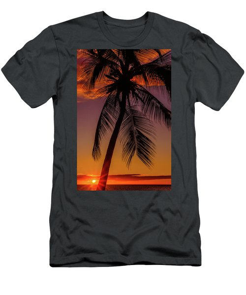 Sunset At The Palm Men's T-Shirt (Athletic Fit)
