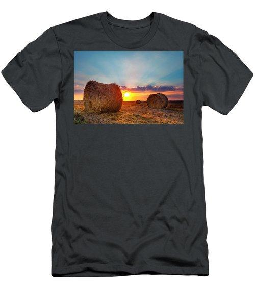 Sunset Bales Men's T-Shirt (Athletic Fit)