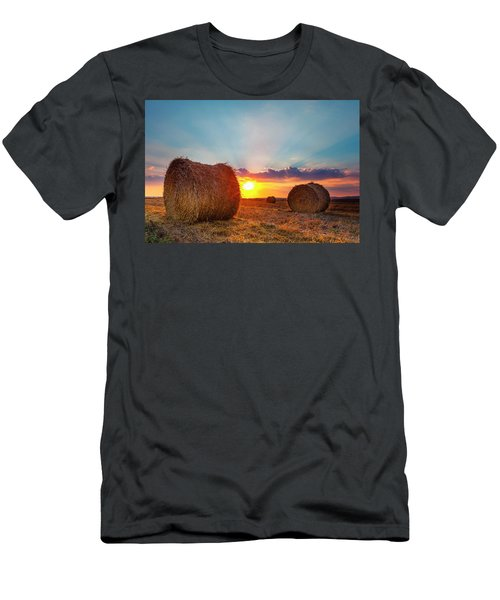 Sunset Bales Men's T-Shirt (Athletic Fit)