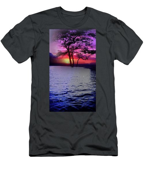 Sunset By Lake. Men's T-Shirt (Athletic Fit)