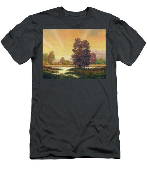 Sunset Color Men's T-Shirt (Athletic Fit)