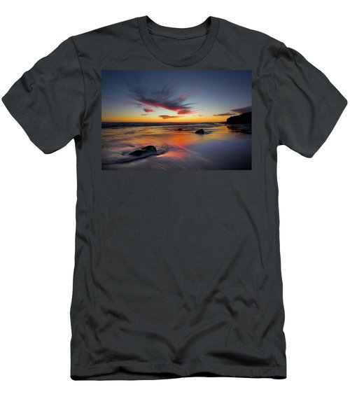 Sunset In Malibu Men's T-Shirt (Athletic Fit)