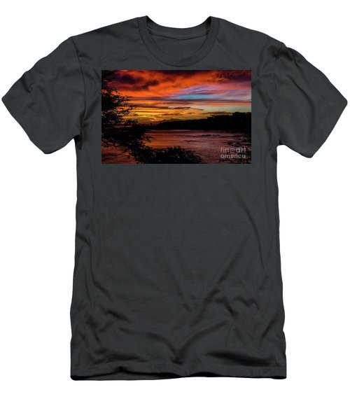 Sunset In Praia, Cape Verde Men's T-Shirt (Athletic Fit)