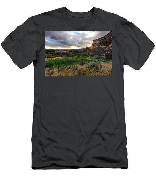 Sunset In The Ancient Lakes Men's T-Shirt (Athletic Fit)