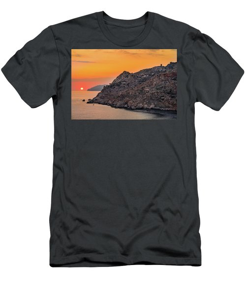 Sunset Near Cape Tainaron Men's T-Shirt (Athletic Fit)