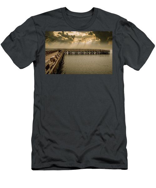 Sunset On Pier Men's T-Shirt (Athletic Fit)